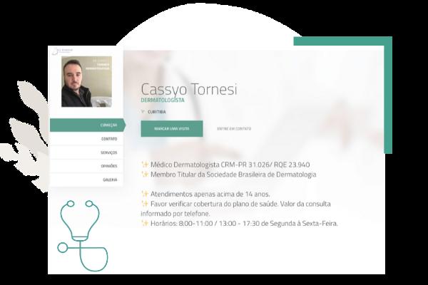 Site Profissional Doctoralia - Dr. Cassyo Tornesi