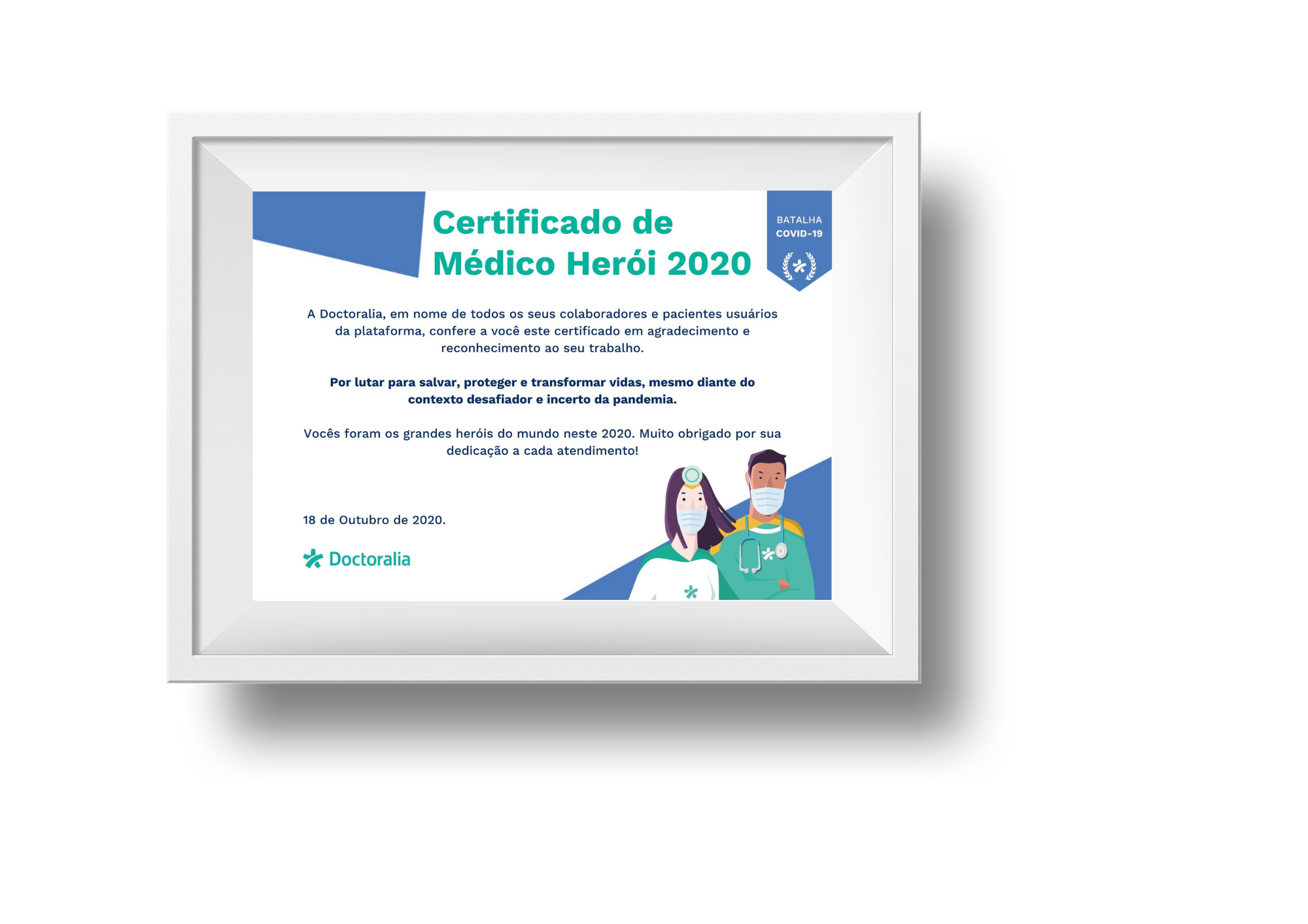 Certificado de Super Herói 2020 - downloadpng
